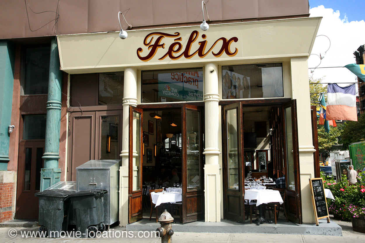 Daddy Filming Location Felix Restaurant West Broadway New York