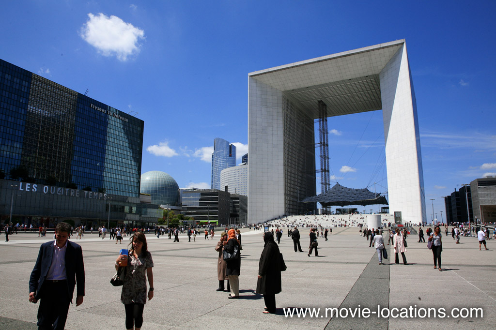 The Bourne Ideny Filming Location La Défense Grande Arche Paris