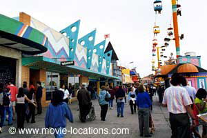 Sudden Impact film location: The Santa Cruz Boardwalk, Santa Cruz, California