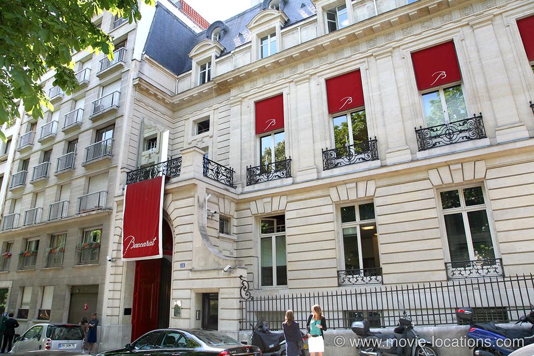 The Bourne Ideny Filming Location Baccarat 11 Place Des Etats Unis Paris