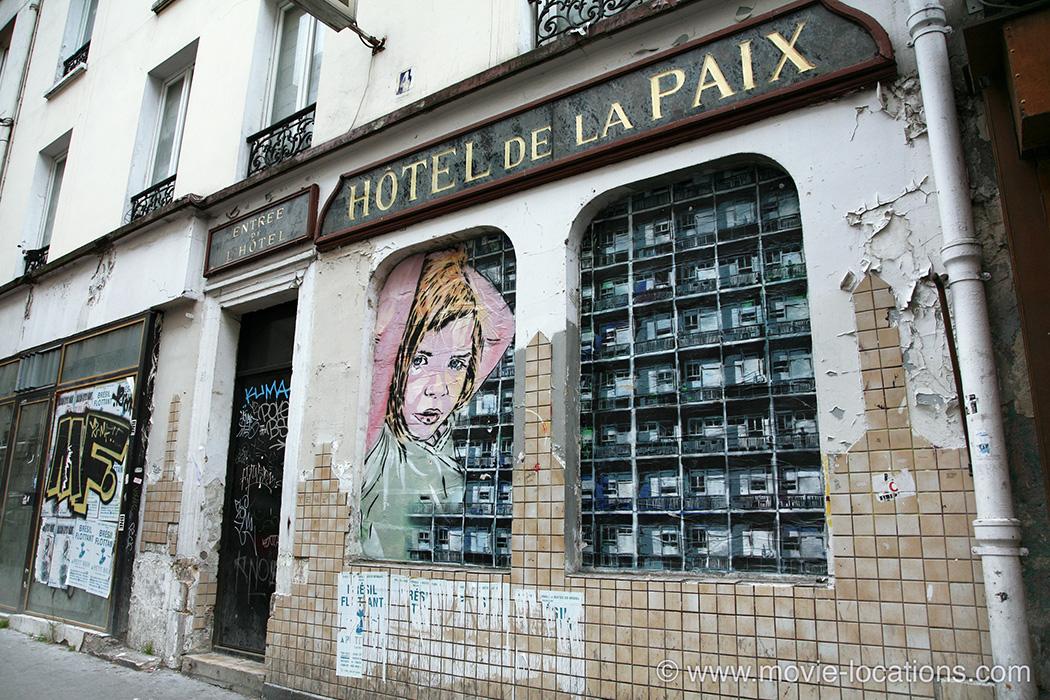 The Bourne Ideny Filming Location Hotel De La Paix Rue Louis Bonnet Belleville