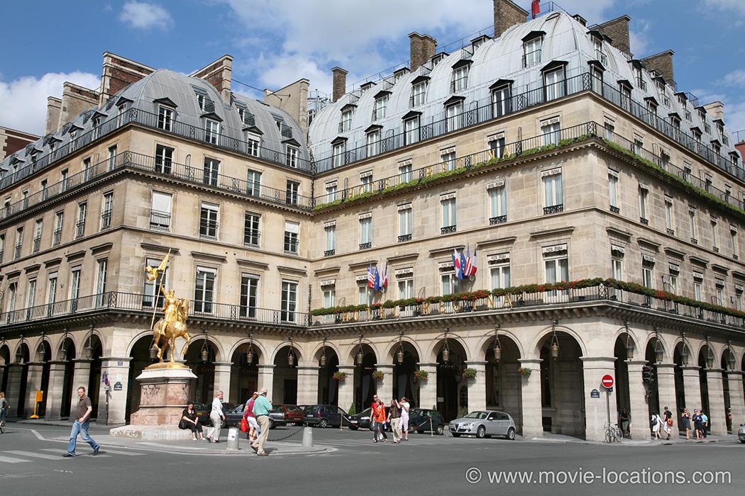 The Bourne Ideny Filming Location Hotel Regina Place Des Pyamides Paris